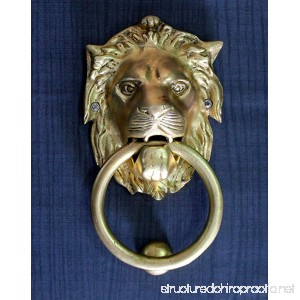 StonKraft Ideal Gift - Beautiful Brass Lion Mouth Door Knocker Door Accessories Gate Knocker (6) - B071JYB8YB