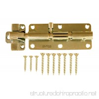 "AjustLock 6"" Barrel Bolt  Heavy Duty Lock (Brass) - B00DLXSHE4"