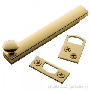 Baldwin Estate 0322.030 General Purpose Solid Brass Surface Bolt in Polished Brass 4 - B000CRIJ6S