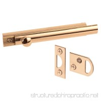 Defender Security U 9961 4-Inch Surface Bolt  Solid Brass  Polished Brass Finish - B002FYGMZ6