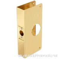 """New Life Products 33-652BD3 Lock & Door Reinforcer  1-3/4-Inch Thick by 2-3/4-Inch Backset 2-1/8-Inch Bore Door Reinforcer  Brass Height 9"""" Replacement For Prime-Line Door Reinforcer U 9551 - B008VO2NNE"""