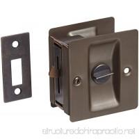 Rockwood 891.10B Brass Pocket Door Privacy Latch 2-1/2 Width x 2-3/4 Height Satin Oxidized Oil Rubbed Bronze Finish - B00CYSKYLG