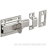 "Stainless Steel 304 Slide Bolt Latch  Satin Finish  Non Locking  1-31/32"" Bolt Plate Length  53/64"" Throw Plate Length (Pack of 1) - B006IHW5NO"