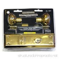 Brass Finish Inside Mortise Lock with Skeleton Key - B00GSWCY8U