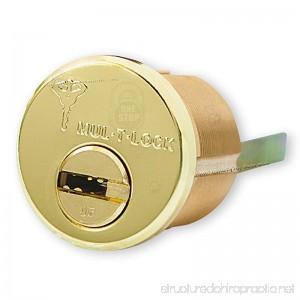 Mul-t-lock Junior Rim & Mortise High Quality Rimo Cylinder. Mul-t-lock Rim Mortise 3 Keys - B00Q21JYV2