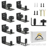 Barn Door Floor Guide Roller - Wall Mount Adjustable Channel Stay Roller with 8 Different Setups Fit for All Sliding Barn Doors Sits Flush to Floor Black Powder Coated Bottom Bracket Hardware - B076WX2YRW