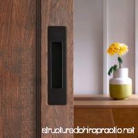 CCJH Invisible Door Handle for Sliding Barn Wooden Door Furniture Hardware Rectangle Shaped (Black) - B076JBJCK3
