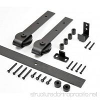 "DIYHD 39"" Wooden Cabinet Sliding Hardware Mini Barn Track Kit to Hang 1 Door - B074Z5FRKY"