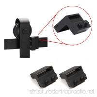 HomeDeco Hardware Black Steel Stopper Limit Device For Sliding Barn Door Hardware Track Roller Stop Kit Accessories - B071J852Y9