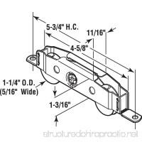 Slide-Co 13808-S Sliding Patio Door Roller Assembly  1-1/4 in.  Wheel Diameter  Steel Ball Bearing Wheels - B000BD6C4O