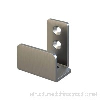 "Stainless Steel Floor Guide Wall Mount Sliding Barn Door Hardware up to 1-3/8""W 1-1/4""H - B07C5F3447"