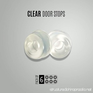 6-Pack Small Wall Door Stops Self adhesive Clear Door Knob Bumpers. 0.5 inch thick - 0.9 inch diameter. - B01J23R2X8