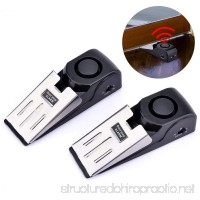 AUSHEN Door Stop Alarm 120dB Home Wedge Shaped Blocking Security Systerm for Home or Travel 2pcs Set - B076CKW5GS