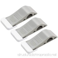 Decorative Door Stopper with Free Bonus Holders  All Floor Surfaces  Strong and Flexible  Premium Rubber  Heavy Duty  Adjustable Door Stop Wedge(3 Pack and Gray) - B07DLJCDB3