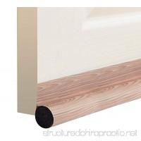 """DeeToolMan Under Door Draft Stopper 36"""": One Sided Door insulator/Velcro Self-Adhesive Seal Fits To Bottom Of Door/Under Door Draft Blocker/Door Weather Strip(Light Walnut Wood grain) - B0799R7TCV"""