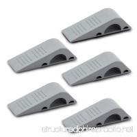 Door stopper Strong and Flexible Premium Grey Rubber Door Stop Wedge Non-Toxic Odorless Doorstops (5 Pack) - B078ZZD6C1