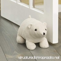 "Elements 5218418 Decorative Polyester Door Stop  5""  White Polar Bear - B07CMV5C8T"