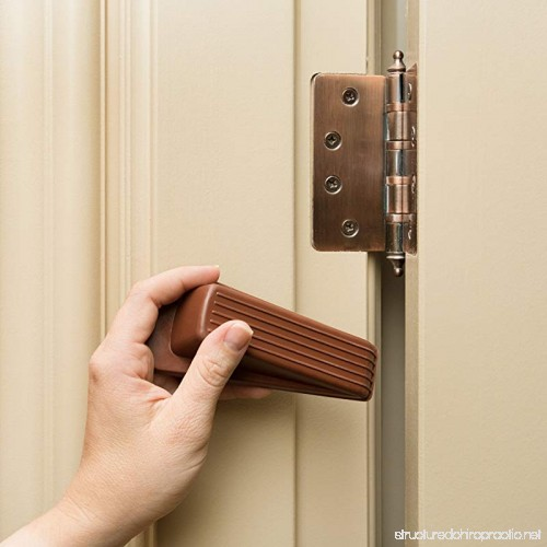 HouseHold Impressions 6 Pack Rubber Wedge Door Stoppers (Brown) | Premium Heavy  Duty Non Scratching Portable ...