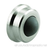 Prime-Line J 4647 Wall Stop 1 in. Outside Diameter Cast Brass Brushed Chrome w/Rubber Bumper - B00DRZMBS4