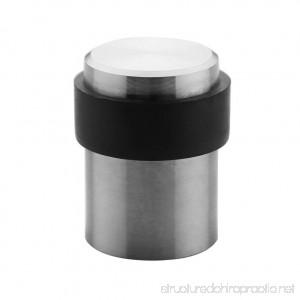 TPOHH SUS304 Brushed Stainless Steel Cylindrical Floor Mount Door Stop (1-3/4 Height) - B07498BXH4