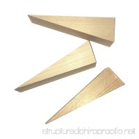 Wooden Non Slip Door Stop Stopper Wedge 3 Pack Of Stoppers Hand Made For All Surfaces Home & Office Woodgrain - B079XSJ8Q1