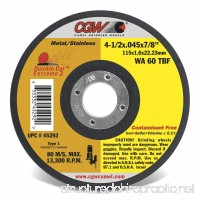 CGW 4-1/2 X 0.40 X 7/8 Reinforced Quickie Cut-Off Wheel EXTRENE-2 - B07F46XD46