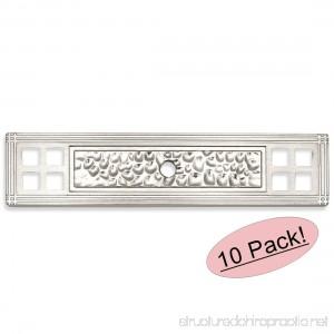 Cosmas 10552SN Satin Nickel Hammered Cabinet Knob Backplate Back Plate - 10 Pack - B01KQJS6M8