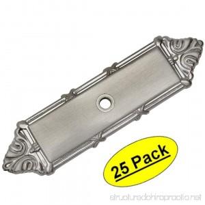 Cosmas 9467SN Satin Nickel Cabinet Hardware Knob Backplate / Back Plate - 25 Pack - B01N5R852B