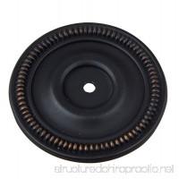 GlideRite Hardware 2-1/2-inch Diameter Oil Rubbed Bronze Round Back Plates (Pack of 10) - B06XS4W73X
