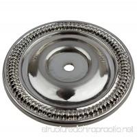 GlideRite Hardware 2-1/2-inch Diameter Satin Nickel Round Back Plates (Pack of 10) - B06XSJ7SBC
