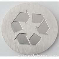 Recycle Logo -Brushed Aluminum Medallion - 1-1/2 Diameter 1/8 Thick - B01NAST2DW