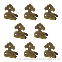 RZDEAL 8pcs 1.0'' x 0.6'' Embossing Brass Box Corner Protector Antique Hardware Desk Edge Guards Right Angle Wood Jewelry Box Photo Frame Accessories - B0758B4D57