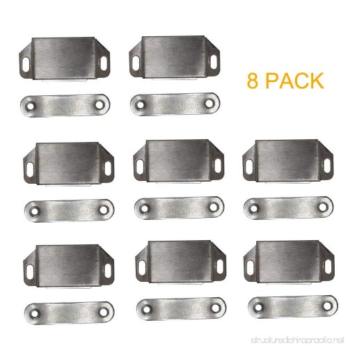 8 Pack Magnetic Cabinet Door Latch Catch Closures Stainless Steel    B07F3MC6L3