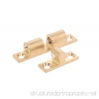 Cabinet Door Double Ball Roller Catch Closet Tension Brass Ball Latch 1.7-inch Length Gold Tone - Pack of 2 (12300:1.7) - B01FFKYH1W