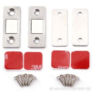 Surepromise Magnetic Kitchen Cupboard Wardrobe Cabinet Drawer Door Latch Catch Stopper Home 2pcs - B07B8KWSK7