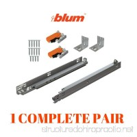 BLUM TANDEM plus BLUMOTION Drawer Slides Complete Pair With Runners 563H Locking Devices Rear Mounting Brackets And Screws (for face frame or frameless application) 21 Inch - B07BTGJ8LG
