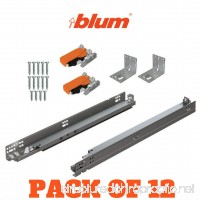 "Bundle - BLUM TANDEM Set Drawer Slides plus Blumotion Complete Kit. With runners 563H  locking devices  rear mounting brackets and screws (for face frame or frameless application) 21"" Pack of 12 - B0799HQZPT"