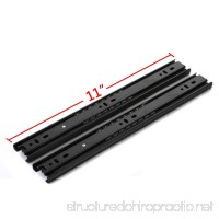 GLE2016 A Pair of Black Metal Quiet Ball Bearing Full Extension 3 Section Drawer Slide Side Mount (27.5cm/11 Inch) - B01N8Y1XEH