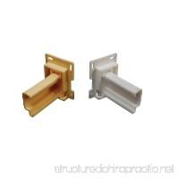 RV Designer H307 Drawer Slide Socket Set - Shape 2 Per Pack Cabinet Hardware - B0006I0N2Q