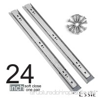 Soft Close Drawer Slides 1 Pair- Esste Ball Bearing 3-Folds Full Extension Side Mount Cabinet Hardware with 88 lb. Load Capacity Available in Length 14 16 18 20 22 24 Inch - B07B3ZSVJ8