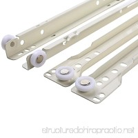 UHPPOTE Cold Rolled Plate Bottom Mount Drawer Slides (10in/25cm) - B071ZMKGMF