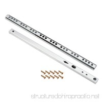 uxcell Ball Bearing Drawer Slides Two Way Slide Track Rail 11-inch 16mm Wide 1 Pair - B07CZYVCTL