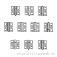 Adiyer [10 Pack] 304 Stainless Steel Butt Hinges for Cabinet Cupboard Jewelry Box (25mm x 24.5mm x 1mm) - B074P3Y5Y9
