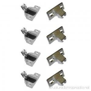 Compact 33 Hinges Face Frame 1/2 OL with face plate - 2 Pairs (4 pcs) with screws - B019ABR732