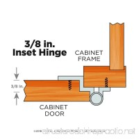 Liberty H00930L-SN-U1 3/8-Inch Inset Hinge without Spring 10-Pack - B004MAXCUO