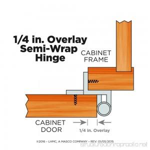 Liberty H01911L-SN-U 1/4-Inch Semi-Wrap Overlay Hinge 2-Pack - B004N7F5MO
