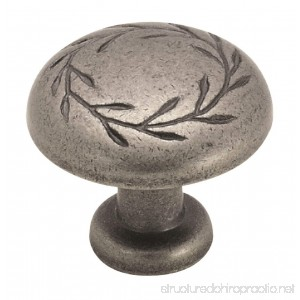 Amerock BP1581-WN Inspirations Leaf 1-1/4-Inch Diameter Knob Weathered Nickel - B00012X9S2