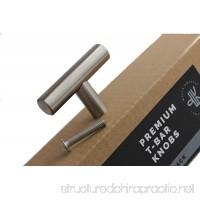 Cabinet Knobs Brushed Nickel - Cabinet Door Knobs - Dresser Drawer Pulls T Bar Style - Furniture Handles for Kitchen and Bathroom Modern Look - 2 Length 10 Pack - B078V65R5B
