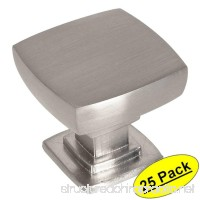 Cosmas 5232SN Satin Nickel Contemporary Square Cabinet Knob - 25 Pack - B073X4Y8KZ