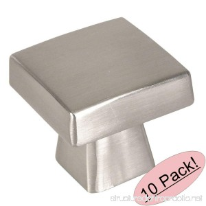 Cosmas 5233SN Satin Nickel Contemporary Square Cabinet Knob - 10 Pack - B073VY2W2P